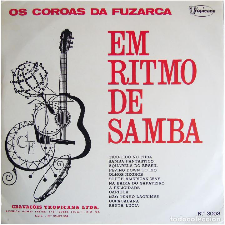 Discos de vinilo: Os Coroas Da Fuzarca – Em Ritmo De Samba - Lp Brazil 1967 - Tropicana N.º 3003 - Foto 2 - 123415423