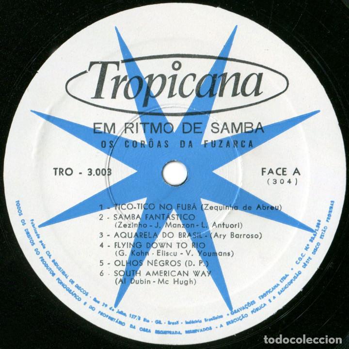 Discos de vinilo: Os Coroas Da Fuzarca – Em Ritmo De Samba - Lp Brazil 1967 - Tropicana N.º 3003 - Foto 3 - 123415423