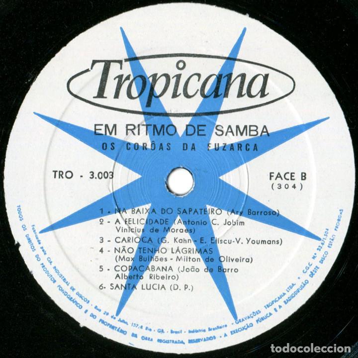 Discos de vinilo: Os Coroas Da Fuzarca – Em Ritmo De Samba - Lp Brazil 1967 - Tropicana N.º 3003 - Foto 4 - 123415423