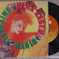 Discos de vinilo: NINA HAGEN - UNIVERSAL RADIO + PRIMA NINA IN EKSTASY - SINGLE 1985 - CBS. Lote 123419059