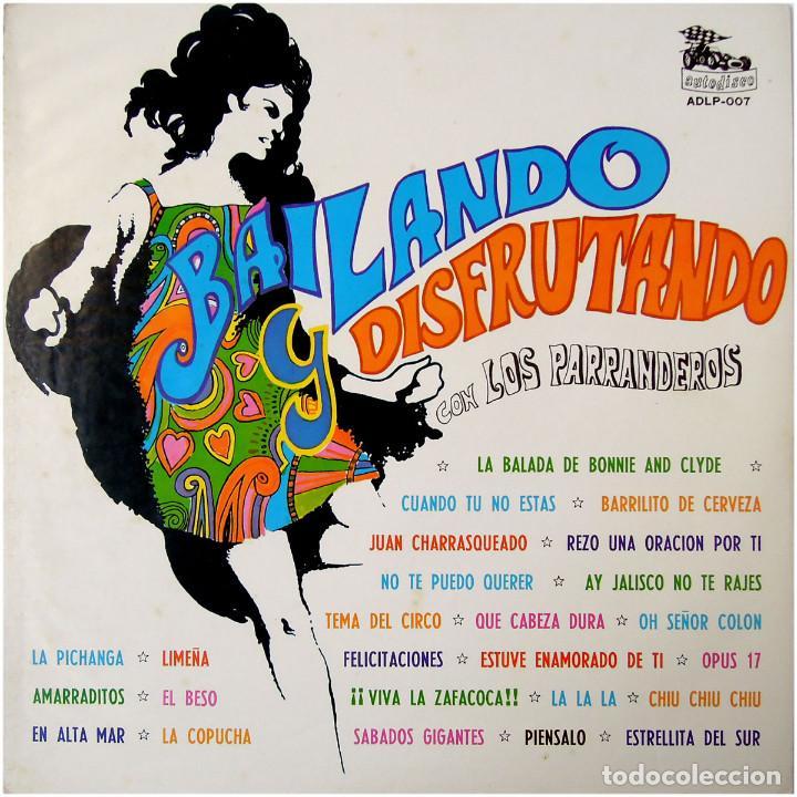 Discos de vinilo: Los Parranderos - Bailando y disfrutando - Lp Chile 1973 - Autodisco ADLP 007 - Foto 2 - 123421295