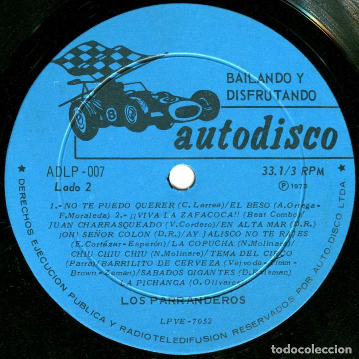 Discos de vinilo: Los Parranderos - Bailando y disfrutando - Lp Chile 1973 - Autodisco ADLP 007 - Foto 4 - 123421295