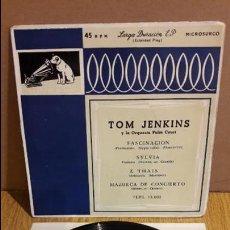 Discos de vinilo: TOM JENKINS Y LA ORQUESTA DE PALM COURT / FASCINACIÓN / EP / AÑOS 50 / ***/***. Lote 123421403