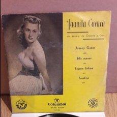 Discos de vinilo: JUANITA CUENCA / JOHNNY GUITAR / EP - COLUMBIA - AÑOS 50 / ***/***. Lote 123423703