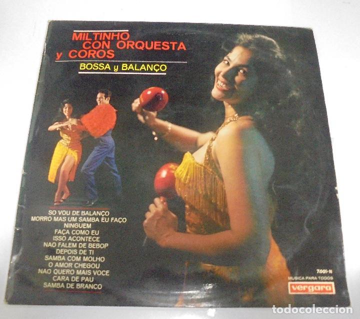 LP. MILTINHO CON ORQUESTA Y COROS. BOSSA Y BALANÇO. 1967. VERGARA (Música - Discos - LP Vinilo - Clásica, Ópera, Zarzuela y Marchas)