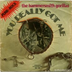 Discos de vinilo: THE HAMMERSMITH GORILLAS – YOU REALLY GOT ME (THE KINKS) - SG SPAIN 1977 - PENNY FARTHING 06-136. Lote 123439327