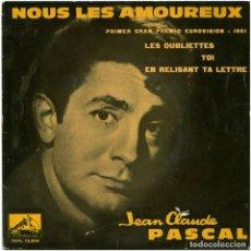 Discos de vinilo: JEAN-CLAUDE PASCAL - NOUS LES AMOREUX - EP SPAIN 1961 - LA VOZ DE SU AMO 7 EPL 13.604 - GAINSBOURG. Lote 123446999