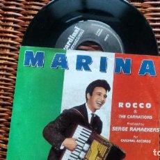 Discos de vinilo: SINGLE (VINILO) DE ROCCO & THE CARNATIONS AÑOS 80. Lote 123473711