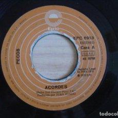 Discos de vinilo: PECOS - ACORDES + JUANY - SINGLE 1978 - EPIC. Lote 123487243
