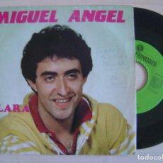 Disques de vinyle: MIGUEL ANGEL - CLARA + ESPANTAPAJAROS - SINGLE 1984 - FONODIS. Lote 123490543