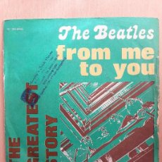 Discos de vinilo: THE BEATLES THE GREATEST STORY-FROM ME TO YOU/DEVIL IN HER HEART- SINGLE EMI ITALIA. Lote 123517411
