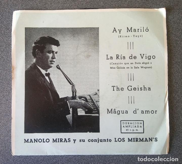 MANOLO MIRAS Y SU CONJUNTO LOS MIRMANS (Música - Discos de Vinilo - Maxi Singles - Solistas Españoles de los 50 y 60)