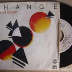 Discos de vinilo: CHANGE - A LOVERS HOLIDAY + THE END - SINGLE 1980 - RFC / WARNER. Lote 123534527