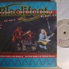 Discos de vinilo: BLACKFOOT - DRY COUNTRY - DOBLE SINGLE UK 1981 - ATCO. Lote 123535151