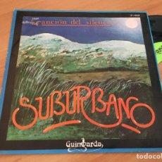 Discos de vinilo: SUBURBANO (CANCION DEL SILENCIO) SINGLE ESPAÑA 1980 PROMO (EPI12). Lote 123541587
