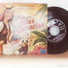 Discos de vinilo: FOLKLORE CANARIO CANCIONES POPULARES DE LAS ISLAS CANARIAS. Lote 123552555