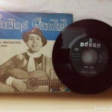Discos de vinilo: CARLOS GARDEL ADIÓS MUCHACHOS YIRA YIRA. Lote 123554027
