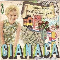 Dischi in vinile: GIANACA - L'ESPERIENZA / QUELLI ERANO GIORNI - EDICION ESPAÑOLA - SAYTON 1969 (OJO: SIN CARATULA). Lote 123557731