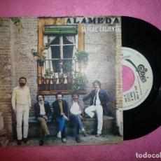 """Disques de vinyle: 7"""" ALAMEDA - SANGRE CALIENTE - 1981 - PROMO - SINGLE - EPIC EPC A 1766 (EX-/EX-). Lote 123581479"""