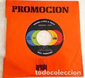 AMANDA LEAR : FOLLOW ME / RUN BABY RUN PROMOCIONAL ARIOLA 0102 (1978) NUEVO (Música - Discos de Vinilo - Singles - Pop - Rock Internacional de los 80)