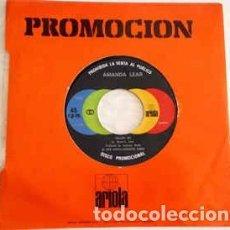 Discos de vinilo: AMANDA LEAR : FOLLOW ME / RUN BABY RUN PROMOCIONAL ARIOLA 0102 (1978) NUEVO. Lote 123584883