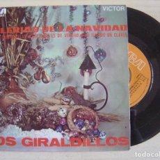 Discos de vinilo: LOS GIRALDILLOS - VILLANCICOS - BULERIAS DE LA NAVIDAD - MANOLO ROJAS Y PACO TRIANA - SINGLE 1969 - . Lote 123671423