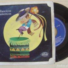 Discos de vinilo: VILLANCICOS FLAMENCOS - JUAN MAYA, ANTONIO MAYA Y M. SEVILLA TARANTO - SINGLE 1968 - DIM. Lote 123672379
