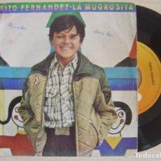 Discos de vinilo: PEDRITO FERNANDEZ - LA MUGROSITA + AMIGO - SINGLE 1980 - CBS. Lote 123682839