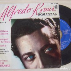 Discos de vinilo: ALFREDO KRAUS - ROMANZAS DE ZARZUELAS - SINGLE 1959 - HISPAVOX. Lote 123702151
