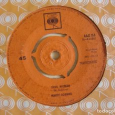 Discos de vinilo: MARTY ROBBINS - DEVIL WOMAN + APRIL FOOL´S DAY - SINGLE UK 1962 - CBS. Lote 123720083