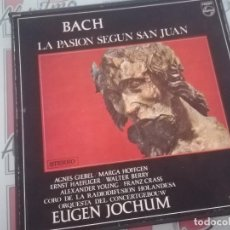 Discos de vinilo: BACH CAJA 3 LP'S LA PASION SEGUN SAN JUAN . PHILIPS 1968 . Lote 123724411