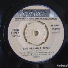 Discos de vinilo: TRINI LOPEZ - THE BRAMBLE BUSH + THE BALLAD OF THE DIRTY DOZEN - SINGLE UK 1967 - REPRISE. Lote 123734547