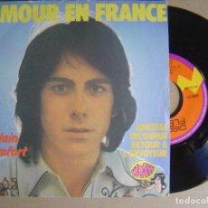 Discos de vinilo: ALAIN CHAMFORT - L´AMOUR EN FRANCE - SINGLE FRANCES - DIQUES FLECHE. Lote 123739219