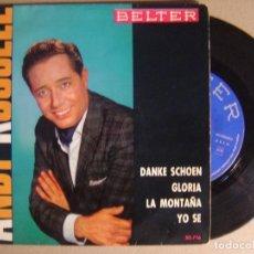 Discos de vinilo: ANDY RUSSELL - DANKE SCHOEN - EP 1963 - BELTER. Lote 123744283