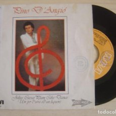 Discos de vinilo: PINO D'ANGIÓ - JULIUS CAESAR PLUM CAKE DANCE + UN PO' D'UVA ED UN LIQUORE - SINGLE 1982 - RCA. Lote 123745811