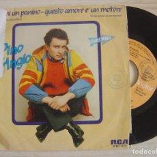 Discos de vinilo: PINO D'ANGIÒ - FAMMI UN PANINO + QUESTO AMORE E' UN MOTORE - SINGLE ESPAÑOL 1982 - RCA. Lote 123747131