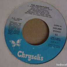 Discos de vinilo: THE ADVENTURES . ANOTHER SILENT DAY + HAPPY DEPRESION - SINGLE PROMOCIONAL 1984 - CHRYSALIS. Lote 123758759
