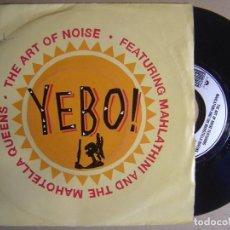 Discos de vinilo: THE ART OF NOISE - DAN DARE + YEBO - SINGLE UK 1989 - SHISA. Lote 123782715