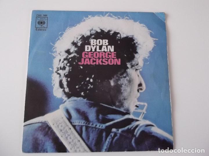 BOB DYLAN - GEORGE JACKSON (Música - Discos de Vinilo - Maxi Singles - Pop - Rock Extranjero de los 70)