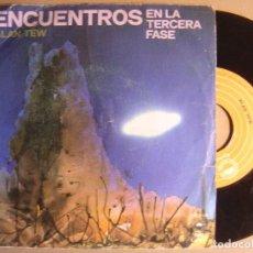 Discos de vinilo: ALAN TEW - ENCUENTROS EN LA TERCERA FASE + YOU MAKE ME WANNA - SINGLE 1978 - EPIC. Lote 123788591