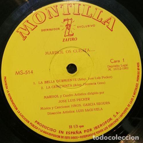 Discos de vinilo: MARISOL - OS CUENTA - LP ESPAÑOL DE VINILO 1ª EDICION EN MONTILLA - Foto 2 - 123808315