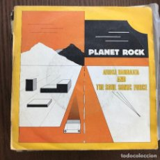 Discos de vinilo: AFRIKA BAMBAATA & THE SOUL SONIC FORCE - PLANET ROCK - SINGLE 21 RECORDS 1983. Lote 124013123