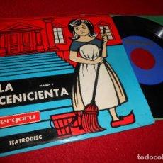Discos de vinilo: TEATRODISC LA CENICIENTA EP 1962 VERGARA TEATRO ANGELICUM MUSICA ARTURO MAS. Lote 124023423