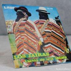 Disques de vinyle: LOS JAIRAS,LLANTO DE UNA MADRE,LAURO,BOLIVIA,CDLR-5113. Lote 124026219