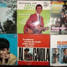 Discos de vinilo: 15 VIEJOS Y CONSERVADOS DISCOS, 10 EP, 5 SENCILLOS, VER IMAGENES, VARIOS ESTILOS.. Lote 124028035