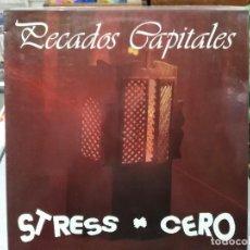 Discos de vinilo: STRESS CERO - PECADOS CAPITALES - LP. DEL SELLO FONORUZ DE 1991. Lote 124028299