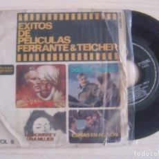 Discos de vinilo: FERRANTE & TEICHER - GRANDES EXITOS DE PELICULAS VOL. 6 - SINGLE ESPAÑOL 1966 - UA. Lote 124050895