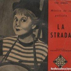 Discos de vinilo: JO MOUTET Y SU GRAN ORQUESTA – MÚSICA DE LA PELÍCULA: LA STRADA - EP TELEFUNKEN. Lote 124051147