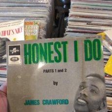 Discos de vinilo: EP MUY RARO FRANCIA JAMES CRAWFORD HONEST I DO VG/VG++. Lote 124066927