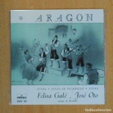 Discos de vinilo: FELISA GALE / JOSE OTO (JOTAS ARAGON) - JOTAS + 2 - EP. Lote 124073830